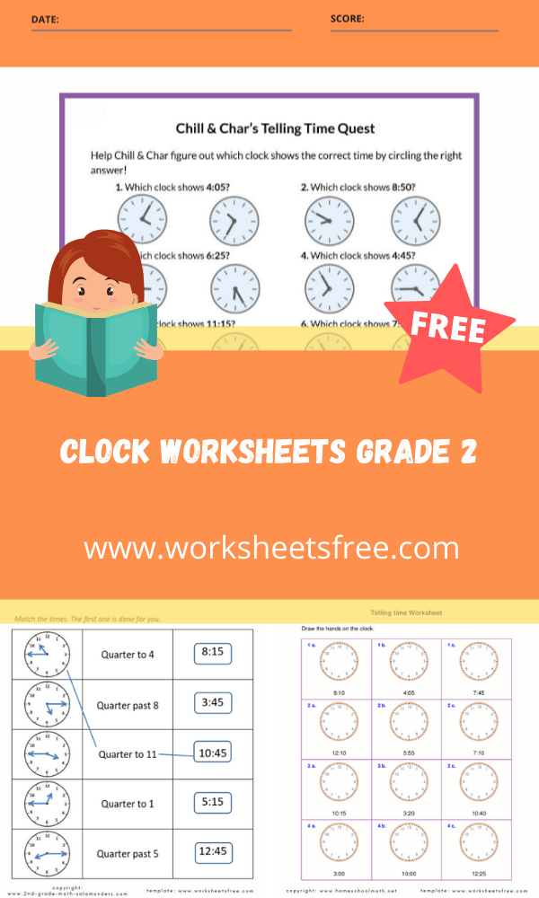 clock worksheets grade 2