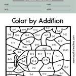 color by number math worksheets 1st grade 4