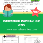 contractions worksheet 3rd grade