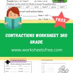 contractions worksheet 3rd grade