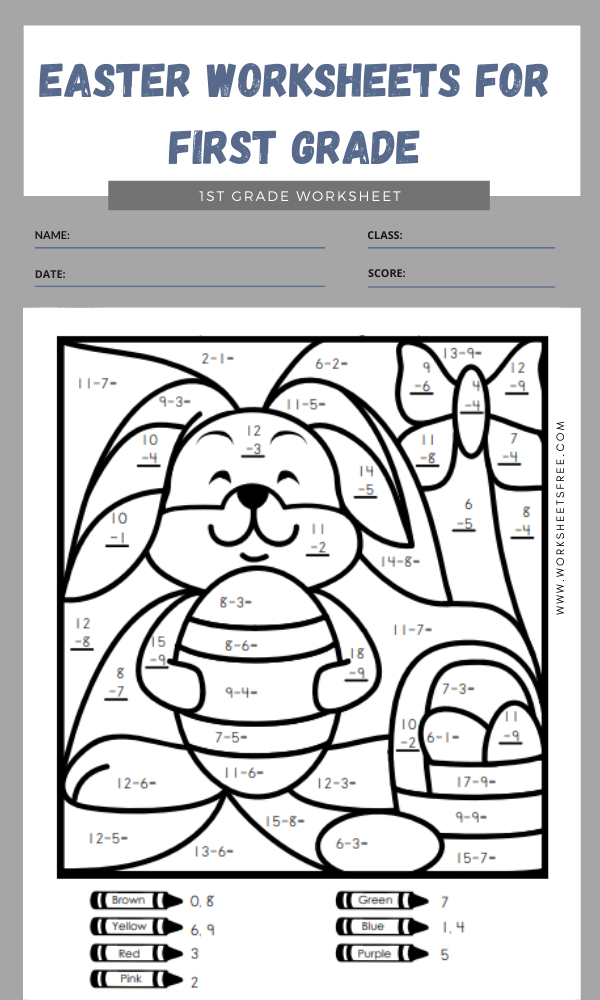 easter worksheets for first grade 3