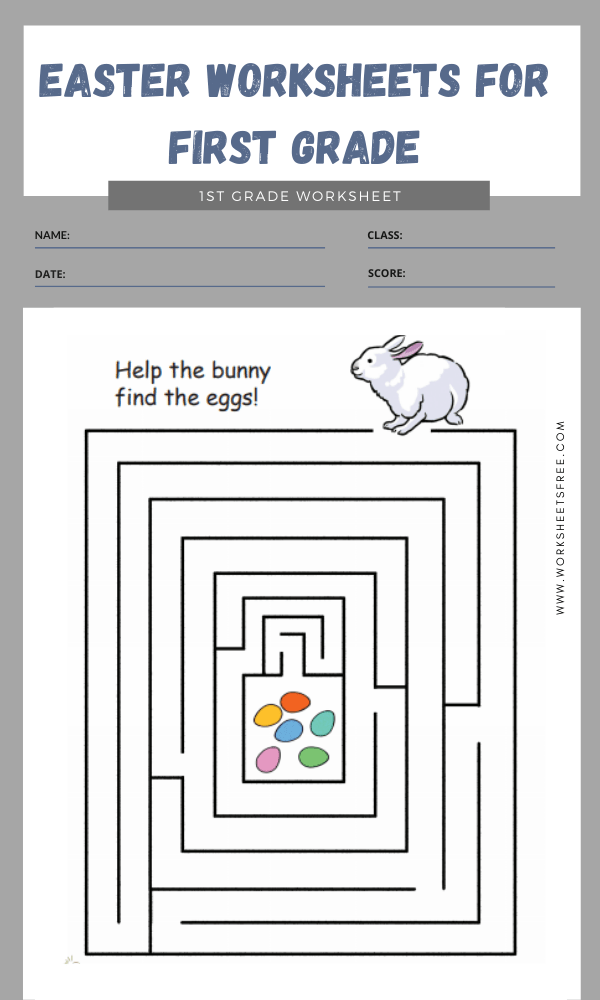 easter worksheets for first grade 4