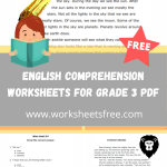 english comprehension worksheets for grade 3 pdf