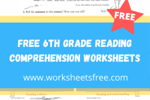 free 6th grade reading comprehension worksheets