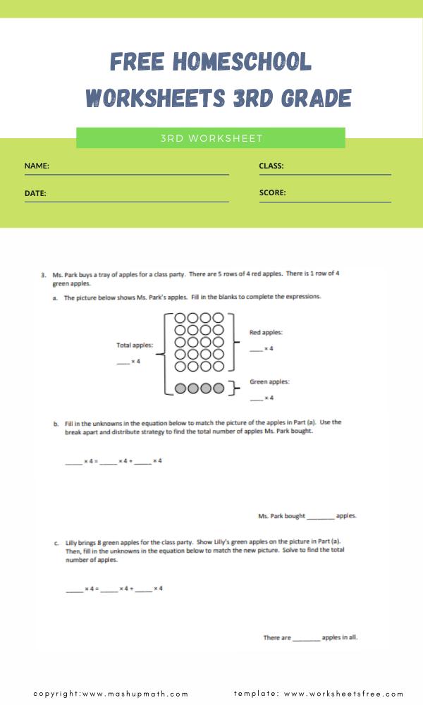 free homeschool worksheets 3rd grade 3