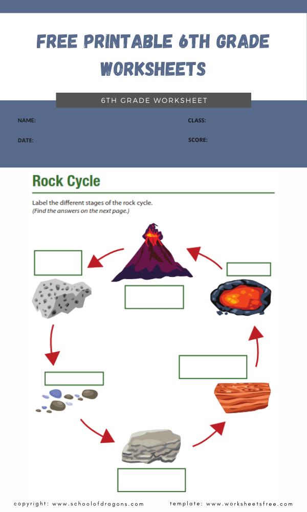 free printable 6th grade worksheets 2