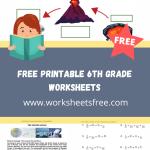 free printable 6th grade worksheets