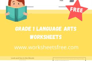 grade 1 language arts worksheets
