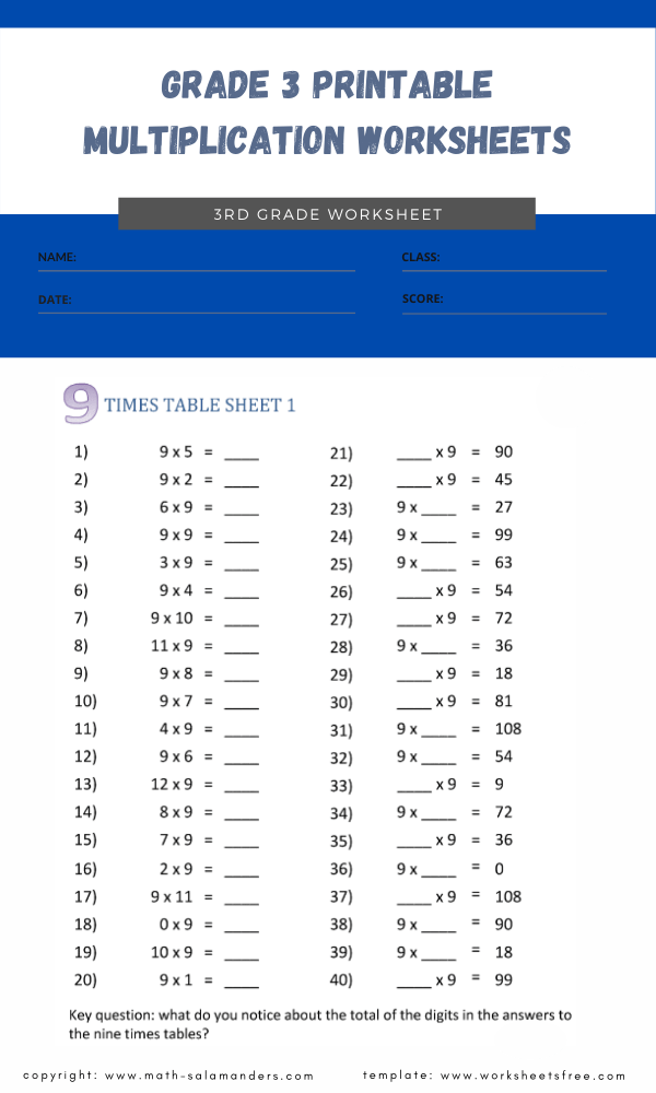 grade 3 printable multiplication worksheets 3