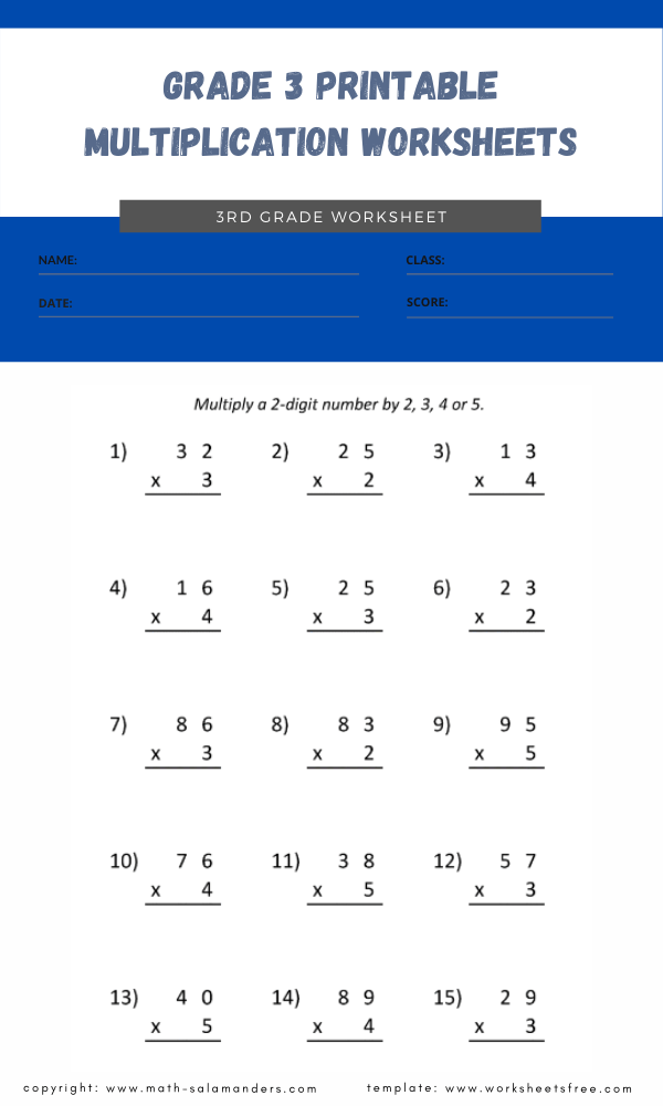 grade 3 printable multiplication worksheets 4