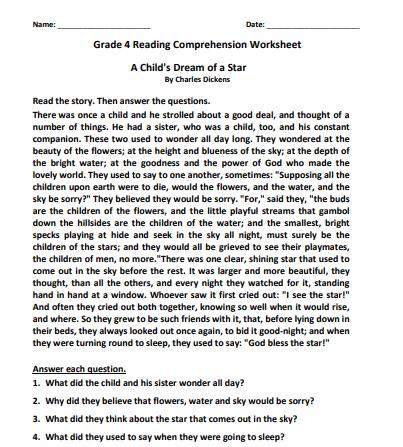 grade 4 reading comprehension worksheets pdf6