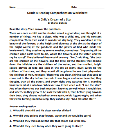 grade 4 reading comprehension worksheets pdf6