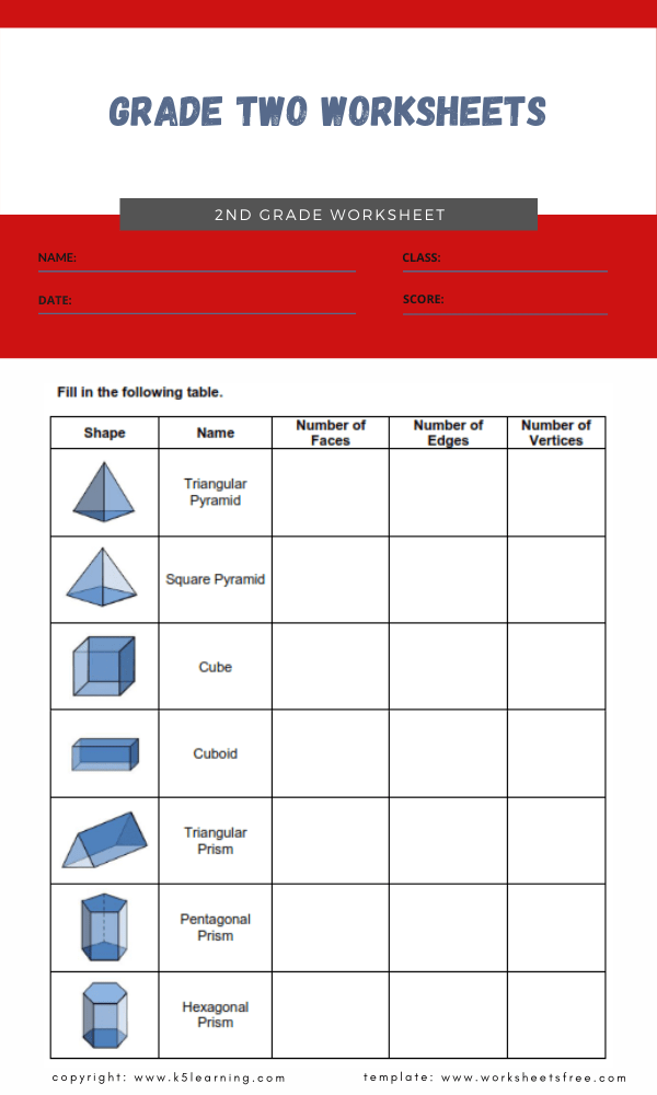 grade two worksheets 4