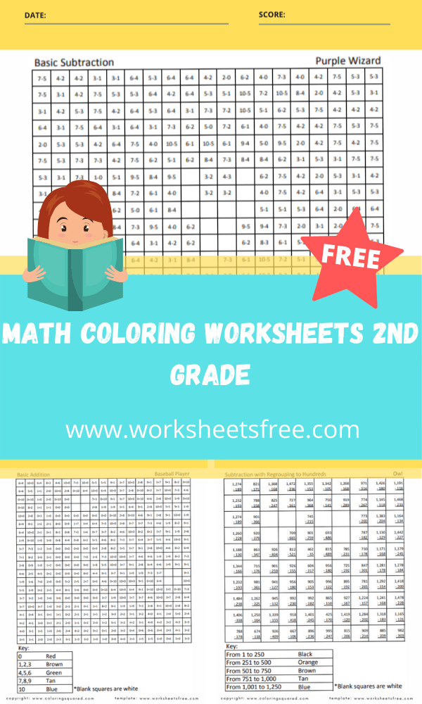 math coloring worksheets 2nd grade