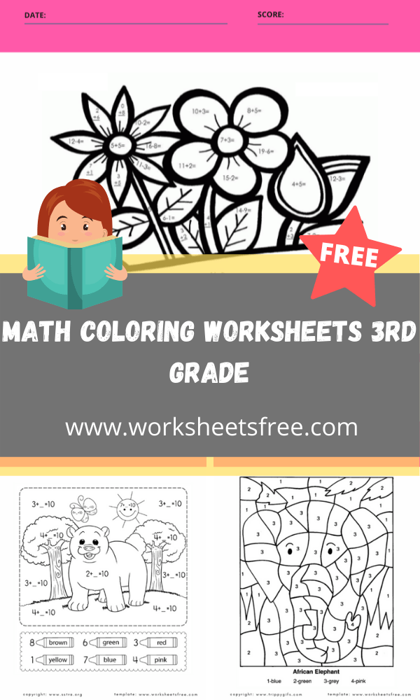 math coloring worksheets 3rd grade