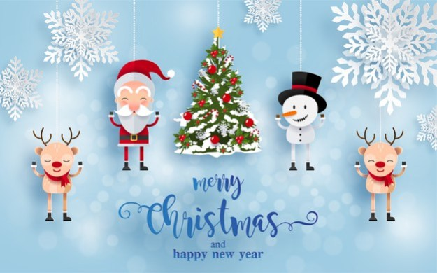 Christmas Card Template 11 and Happy New Year design From freepick