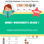 money worksheets grade 1