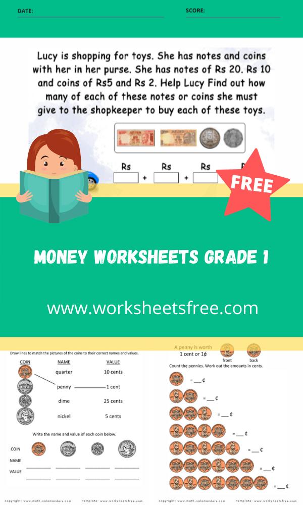 money worksheets grade 1