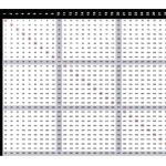multiplication chart 30x30
