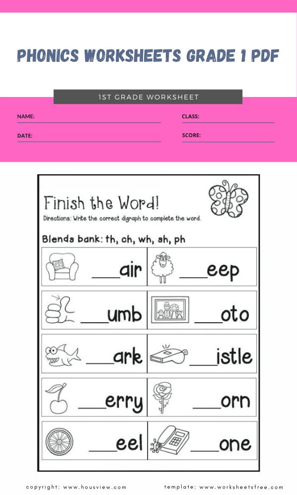 phonics worksheets grade 1 pdf 1