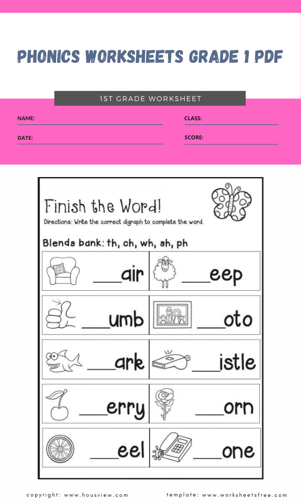 phonics worksheets grade 1 pdf 1