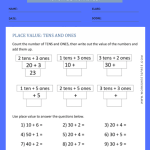 place value worksheets for grade 1 2