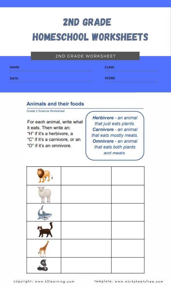 2nd Grade Homeschool Worksheets : Grade 2 Worksheets Free