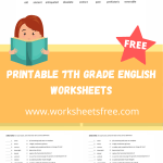 printable 7th grade english worksheets