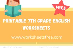 printable 7th grade english worksheets