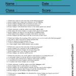 reading comprehension worksheets 6th grade multiple choice 2
