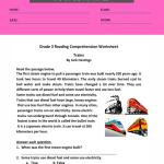 reading comprehension worksheets for grade 3 pdf 2