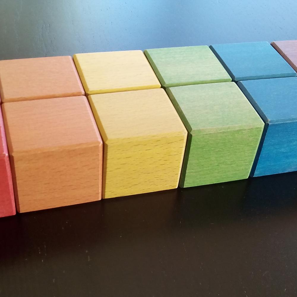 Colored wooden building blocks workshoptherapy
