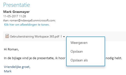 Update 2.44: E-mailbijlages opslaan in SharePoint en Business App API