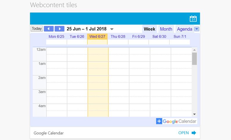 Update 2.59: Creëer je eigen live tiles met iFrame