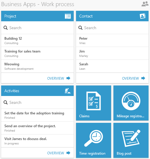Business App livetiles