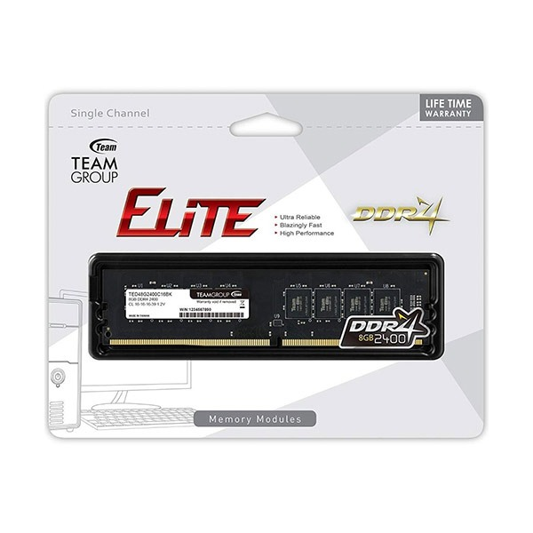 Mémoir RAM Team Group Elite 8GB DD4 R2400MHz