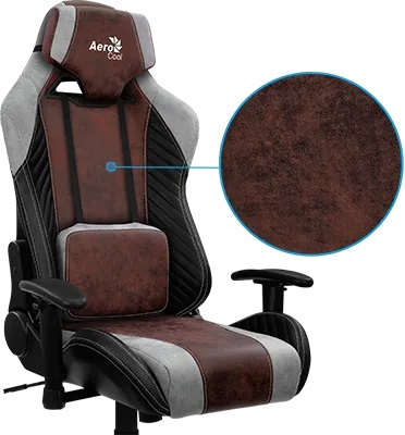 AeroCool BARON gaming chair red face 3