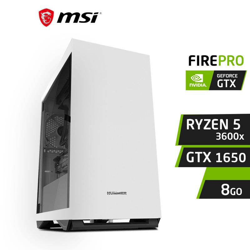 FIREPRO F5 Ryzen 5 3600x 8GB Nvidia GTX 1650 4Go