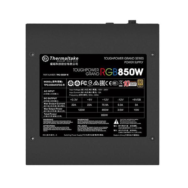 THERMALTAKE TOUGHPOWER Grand RGB 850W Gold face 2