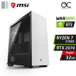 WARBIRD X7 Ryzen 7 3700X 32Go Nvidia RTX 2070 Super PC GAMER PRO