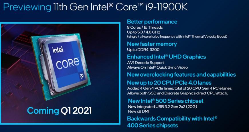 Intel i9 11900K benchmarks