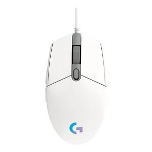 Logitech G203 maroc LightSync (Blanc)