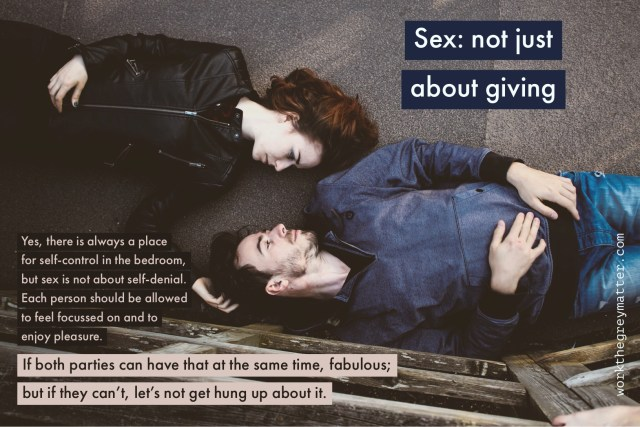 Sex: not just about giving
