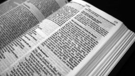 Bible pages open at Luke chapter 1
