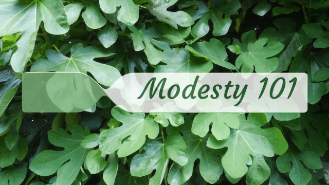 Modesty 101 fig leaves