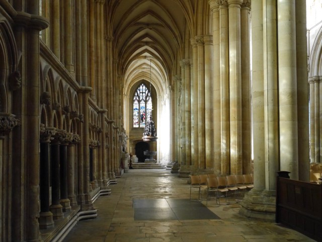 Aisle at Beverley Minster