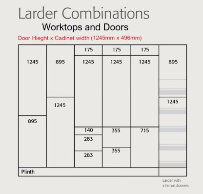 Extra Tall Lader Combinations 500mm