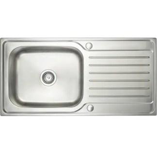 Inset Sink- Prima Deep 1B Polished Steel