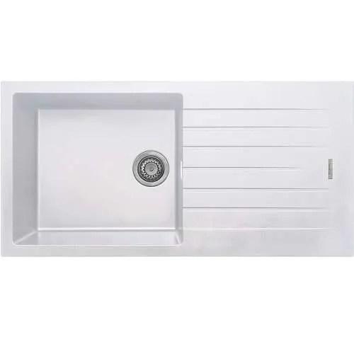 kitchen sink granite inset 1b white