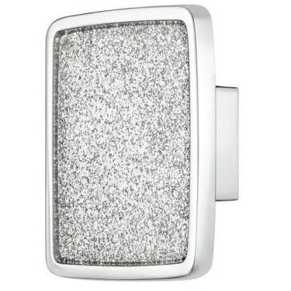 Knob, Zinc Alloy, 57 x 57 mm, Glitter